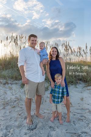 beach family photo sunset