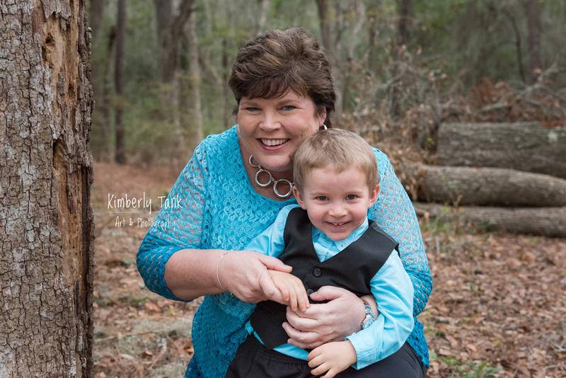 Grandma and grandson laughing