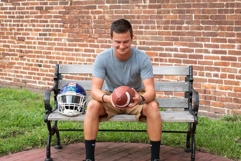 high school senior boy football player lifeguard Amelia Island