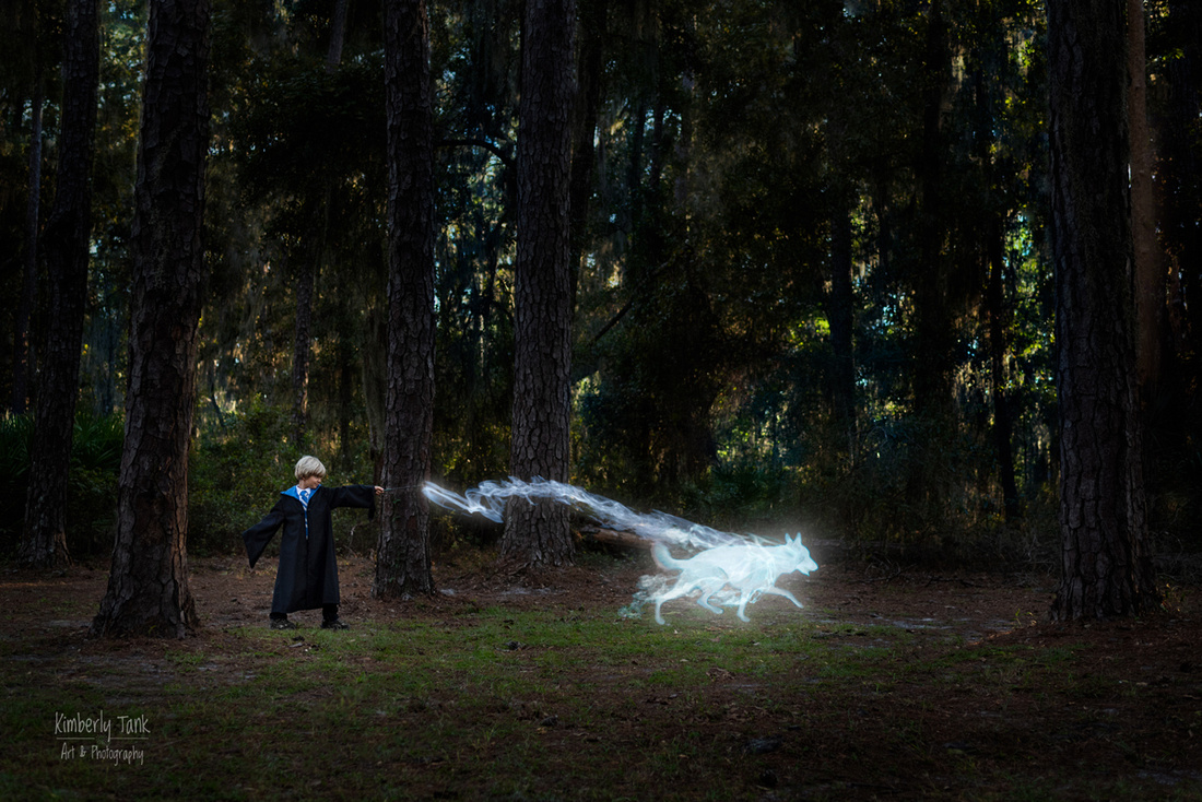 kids & pets photos - Harry Potter inspired photo - patronus