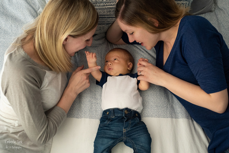 two moms and a baby photos