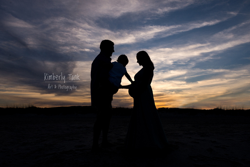 maternity sunset beach silhouette