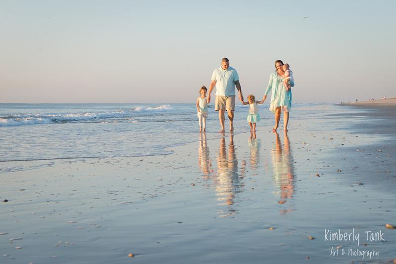 family walking on the beach - Fernandina Beach, FL