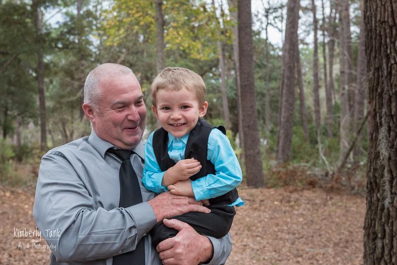 Grandpa tickling grandson