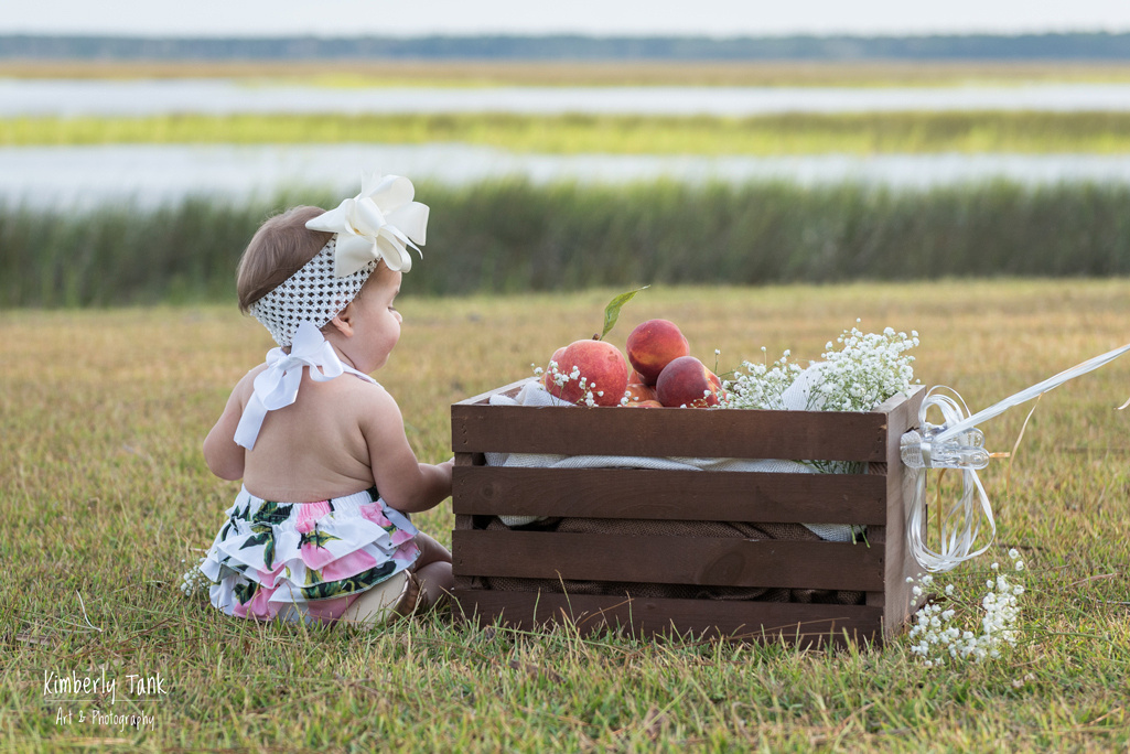 outdoor baby milestone session