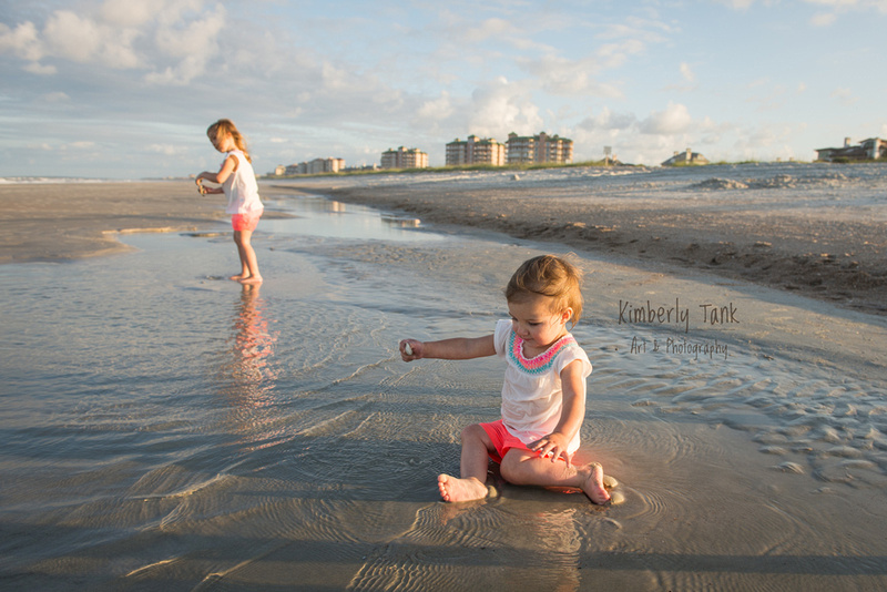 two girls playing at the beach - Amelia Island, FL